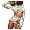 Women's Mid Rise Printed PullOnStyle Bikini Sets