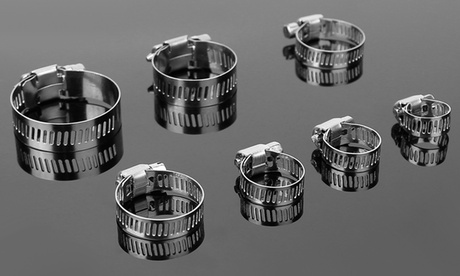 iMounTEK Hose Clamp Set, Stainless Steel, Adjustable Worm Gear, Pipe Fitting