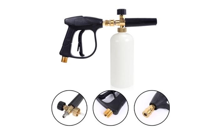 1//4 Car Auto Washer Foam Gun Blue Cannon Lance High Pressure Snow Soap