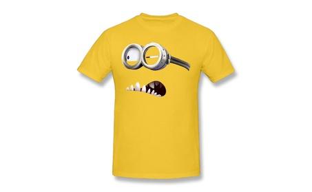 Evil Minion Purple T-shirt Preshrunk Graphic Tee Gold e2aba1df-64b8-48c7-ba49-c5010c5d995c