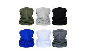 6 Pieces Summer Face Mask UV Protection Neck Gaiter Scarf Sunscreen Breathable