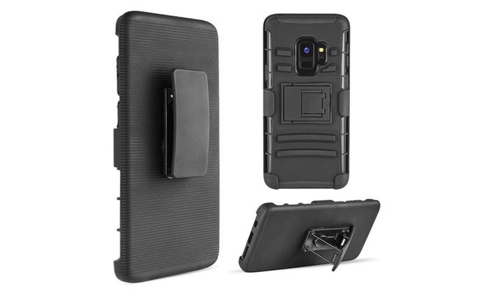 sports shoes 1ee0c eb9d8 Samsung Galaxy S9 Hybrid Case Black Skin Black Pc With H Style Stand