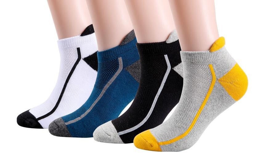 4Pairs Men/'s Sport Socks Soft Cotton Breathable Ankle Socks Low Cut Socks Casual