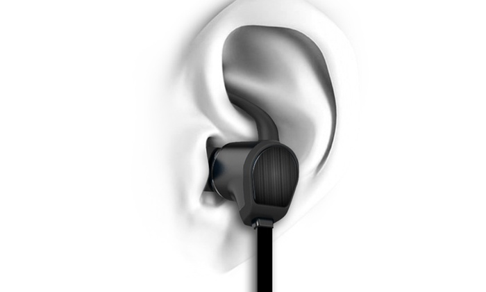jarv nmotion water resistant in ear bluetooth earbuds with magnet groupon. Black Bedroom Furniture Sets. Home Design Ideas