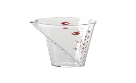 Grips Angled Measuring Cup, Mini, Clear 2cc8a484-4967-4b6a-8e21-e77e74dc22b1
