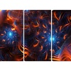 Fire & Ice - Large Contemporary Canvas Art - 48x28 - 4 Panel
