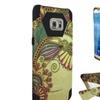 Insten For Samsung Galaxy S7 Yellow Blk Flower Hard Hybrid Case /stand