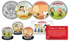 Peanuts Charlie Brown Snoopy Valentine's JFK Half Dollar U.S. 3-Coin Set