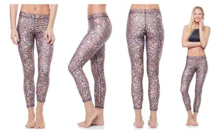 Terez Women's Performance Capri Leggings, Multi Glitter 043f2d2f-6cb8-404a-b7d1-19ee65e8193f