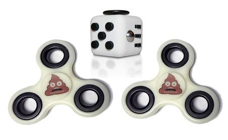 Poop Emoji Fidget Spinner and Fidget Cube Set (Three Total) 879d3e88-c87c-4009-8c82-4ff2739b5787