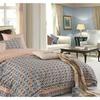100% Cotton Checkered  3-Piece Duvet Cover Set