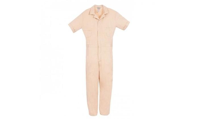 Berne Apparel P700tns400 Medium Short Poplin Short Sleeve Coverall Tan