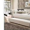 Cherine Contemporary Fabric-Upholstered Daybed with Trundle