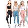 Women'S Mesh-Panel Compression Leggings W/ Zipper Pocket