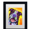 Dean Russo 'Daisy Pit' Matted Black Framed Art