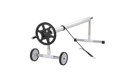 Topeakmart Swimming Pool Cover Roller Stainless Steel Reel w/Wheels 52ecadf1-b874-4145-a92a-d554407b819b