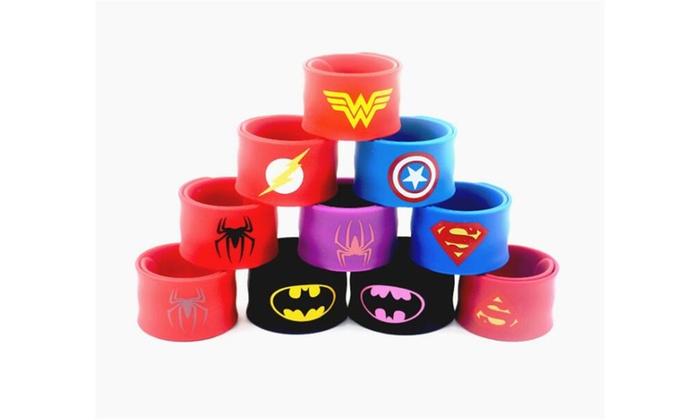 SUPER HERO Logos Silicone  WRISTBAND UK stock
