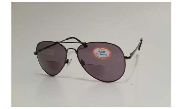 Reading Sunglasses Non Bifocal  vue opiks bifocal reading sunglasses aviator style reading