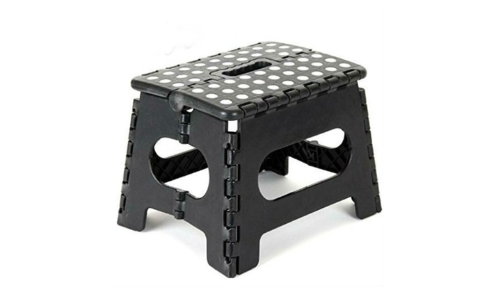 Plastic Folding Step Stool with Handle  sc 1 st  Groupon : black plastic step stool - islam-shia.org
