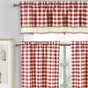 Queenstone Crochet 3 Piece Tier Kitchen Curtain
