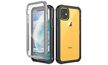Built-In Screen Protector Clear Full Case for iPhone 11, 11 Pro, or 11 Pro Max
