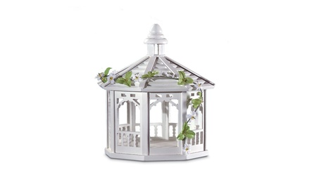 Zingz & Thingz 57070118 Wood White Gazebo Birdfeeder (Goods For The Home Patio & Garden Bird Feeders & Food) photo