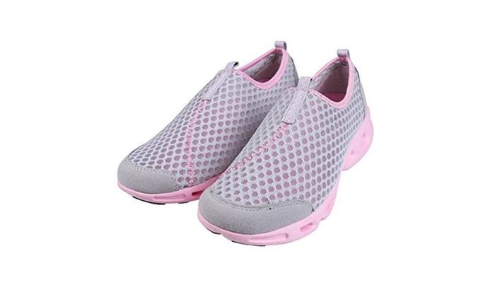 Women's Quick Drying Aqua Mesh Slip on Water Shoes