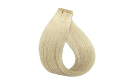 """Remy Tape Hair Extensions 22"""" Straight Bleach Blonde (#613) 52af1bb6-401d-4e37-834c-764203c43936"""