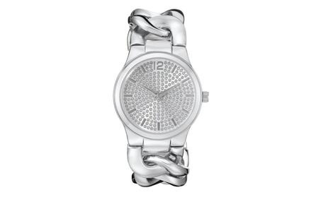 Vernier Paris Women's Pave' Crystal Dial Chain Link Watch a880c7ce-9725-4c87-a77f-c9580d378556