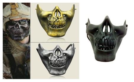 Skeleton Ghost Skull Half Face Mask Biker Costume Halloween 5a96ab01-7366-4fab-978f-6d7abb4fd661