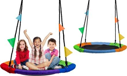 "Sorbus Saucer Tree Swing Mat for Kids Outdoor Backyard Playground (24"" & 40"")"