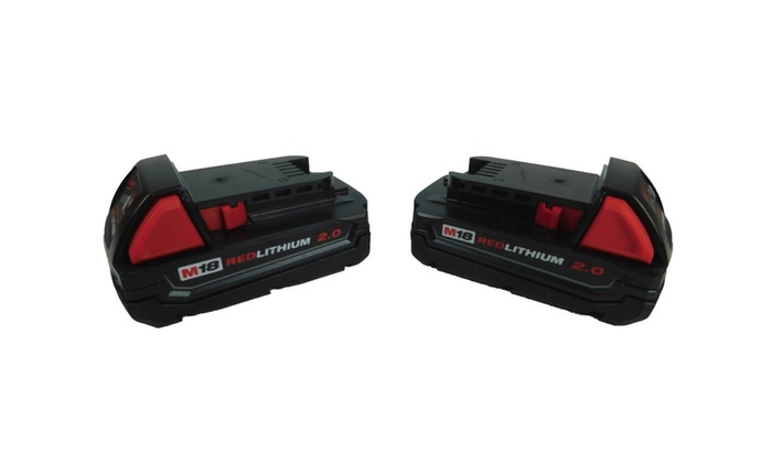 Milwaukee 48-11-1820 18-Volt Lithium-Ion Compact Battery 2 pack 2.0 Ah