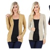 Women's Snap Button Knit Cardigan