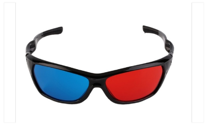 Classical Black Frame 3D Glasses Red And Blue Lens