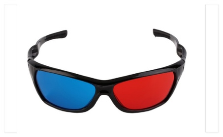Classical Black Frame 3D Glasses Red And Blue Lens 392864c8-daa2-4fd4-b8b0-3ddaa35d7f53