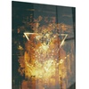 Abstract Golden Elements Abstract Metal Wall Art 12x28