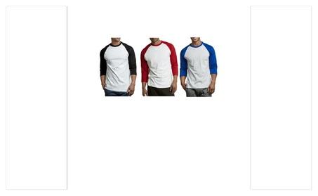 Unibasic Men Activewear Classic 2 Tone Raglan Cut 3/4 Sleeve Baseball ab5335f6-c03e-49e3-a3bc-03d988f9b3ac
