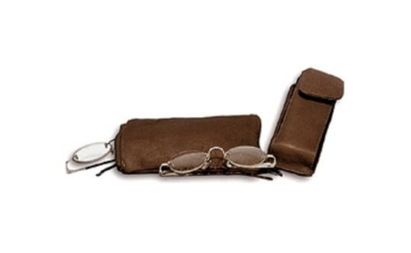 David King & Co 444C Double Eyeglass Case Cafe- Cafe 258fe4a6-bc1c-44e8-9298-e2ed864d979f