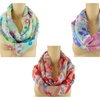 Floral & Paisley Print Infinity Scarves
