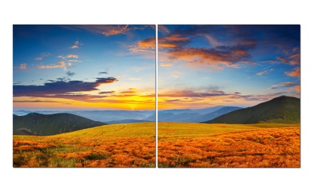 "Split Canvas Art Set 24""x 24"" 2 Pieces Open Fields 0850bca9-a66e-4c7e-8e77-20e6fcdd24ad"