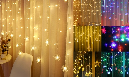 96 LED String Curtain Lights Colorful For Wedding Party Children Room Decor Lamp