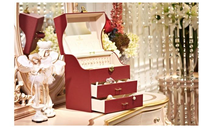 Vlando Super Large Jewelry Organizer Box Storage Box Red Groupon