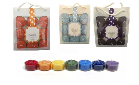 18 Pcs Aromatherapy Scented Tealight Candles Flower Shaped