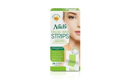 Nad's Hypoallergenic Facial Wax Strips, 24 strips (Pack of 2) 8fac68fc-f770-4bc0-9d32-d281ba03f1ab