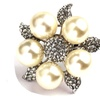 Fashion Imitation Pearl with Flower Rings for Women
