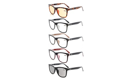Eyekepper 5-pack large lens spring hinge reading glasses R080-5pc-Mix f7caba65-691e-4f1d-90cb-330ab30b0294