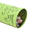 Pet Tunnel Cat Printed Green Lovely Crinkly Kitten Tunnel Toy