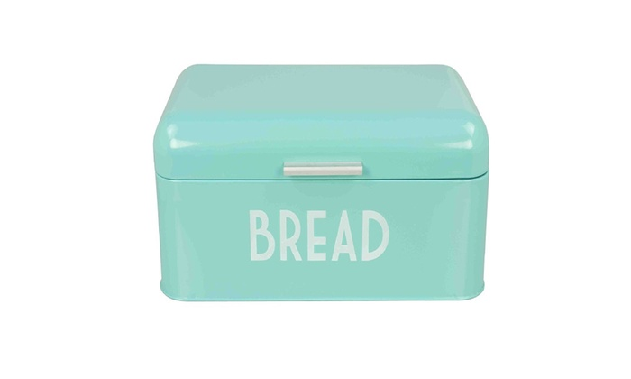 Turquoise Bread Box Stunning Home Basics Bread Box Turquoise Groupon