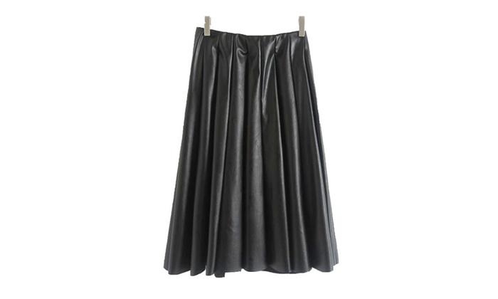 Women's HiddenZipper Commuting Equipment Skirts