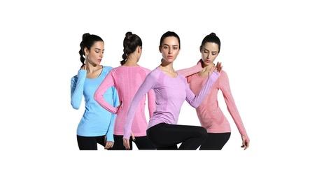 LINGO Women's Long Sleeve Activewear Yoga T-Shirt Tops d667bb3d-848e-4658-ad44-a57f30951c89